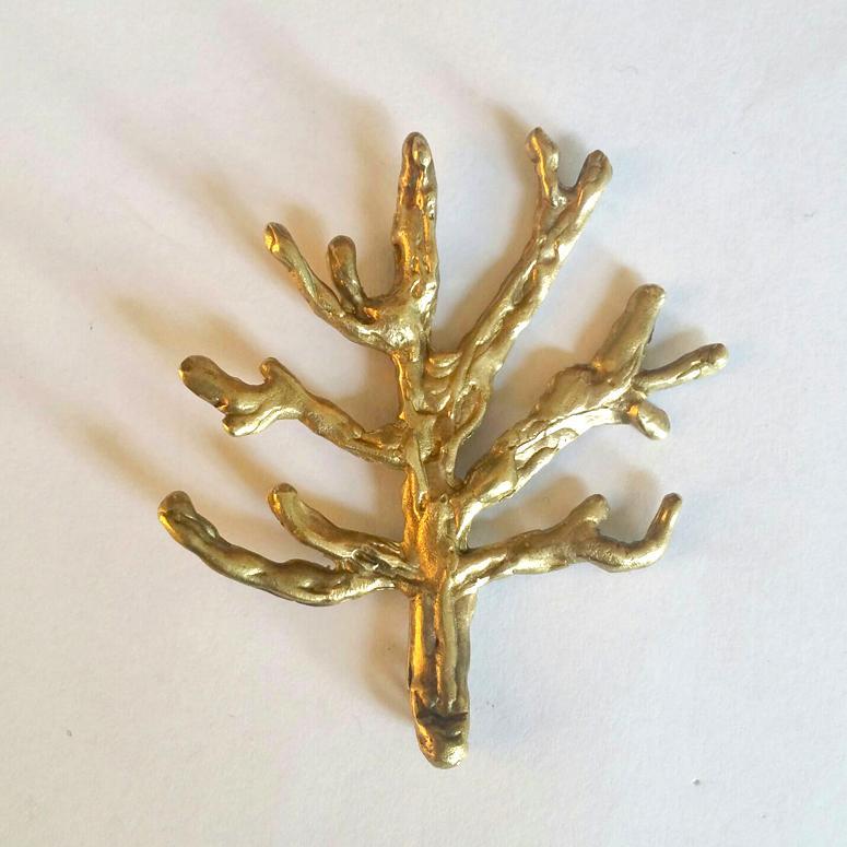 Broche árbol Pequeño – Latón