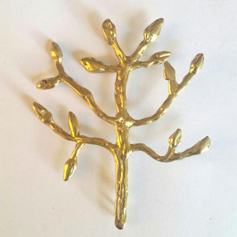 Broche árbol Grande – Latón