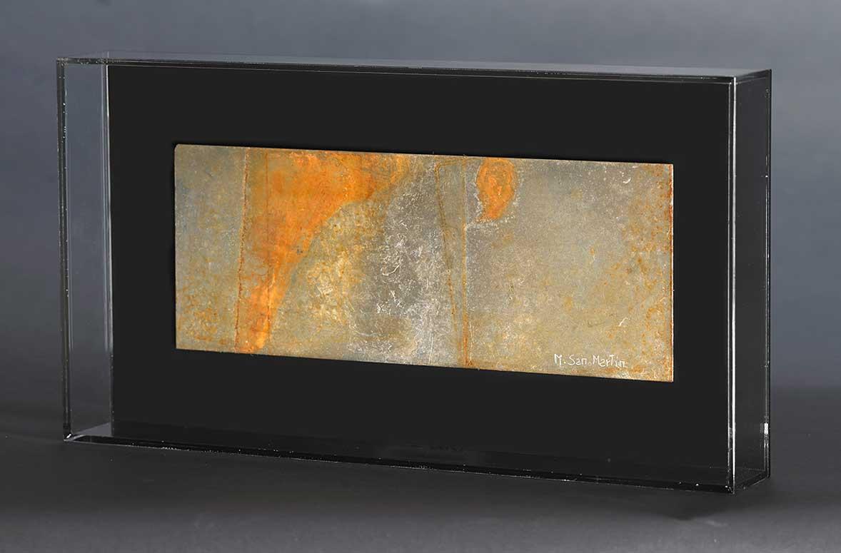 Placas IV Metal Y Metacrilato 40 X 21,5 Cm