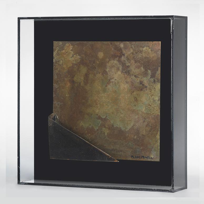Placas VI Metal Y Metacrilato  30 X 30 Cm