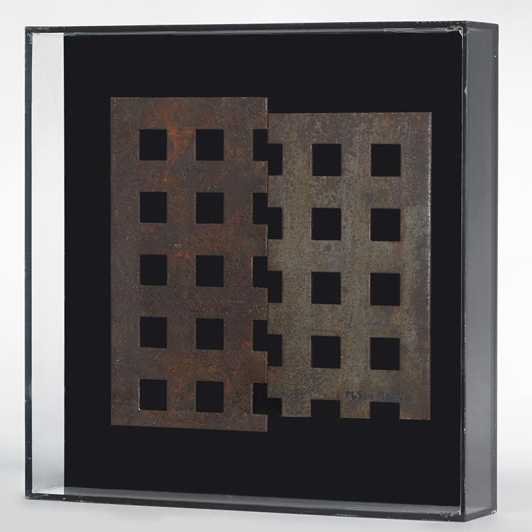 Placas VII Metal Y Metacrilato 30 X 30 Cm
