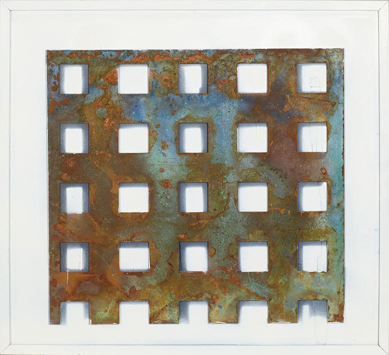 La Reja – Metal Sobre Madera 53 X 48cm